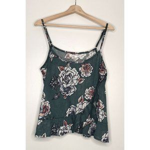 Maurices Green Floral Cami Tank Size XL